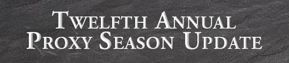 12th Annual Proxy Season Update